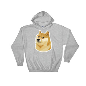 Dogecoin DOGE Distressed Crypto Shirt Hooded Sweatshirt
