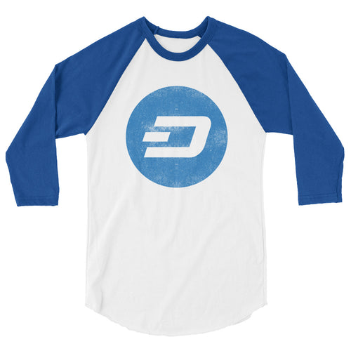 Dash Logo Vintage Look 3/4 sleeve raglan shirt