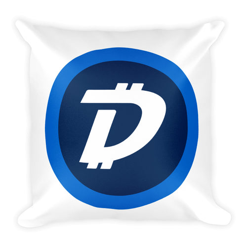 Digibyte DGB Coin Square Pillow