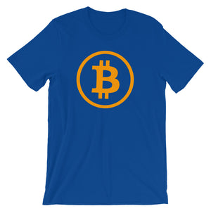Bitcoin Logo Rounded Simple Tshirt | Cryptocurrency BTC Short-Sleeve Unisex T-Shirt