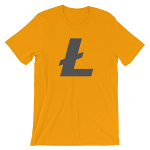 Litecoin L Logo LTC Symbol Cryptocurrency Shirt - Short-Sleeve Unisex T-Shirt