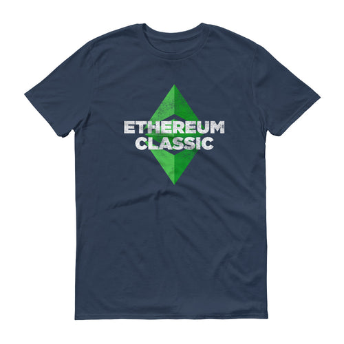 Ethereum Classic Logo T Shirt ETC Distressed Vintage