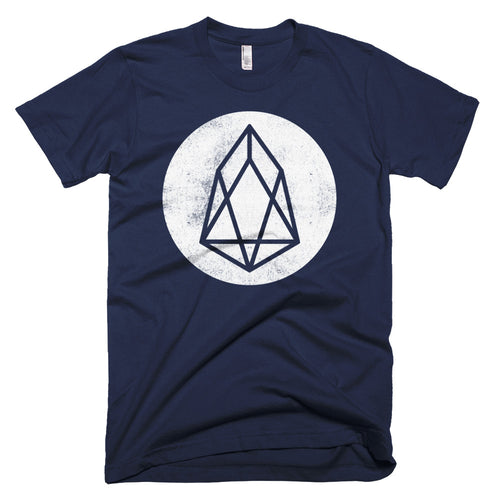 EOS Vintage Texture Logo Tshirt | EOS.io Cryptocurrency Short-Sleeve T-Shirt