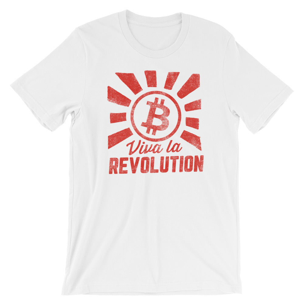 Bitcoin Viva La Revolution Shirt | White t shirt