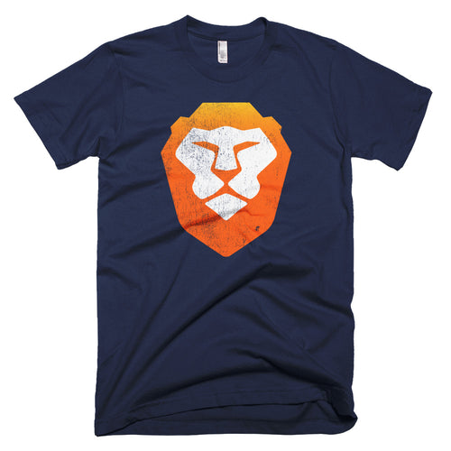 Brave Open Source Browser Logo Vintage Look Short-Sleeve T-Shirt