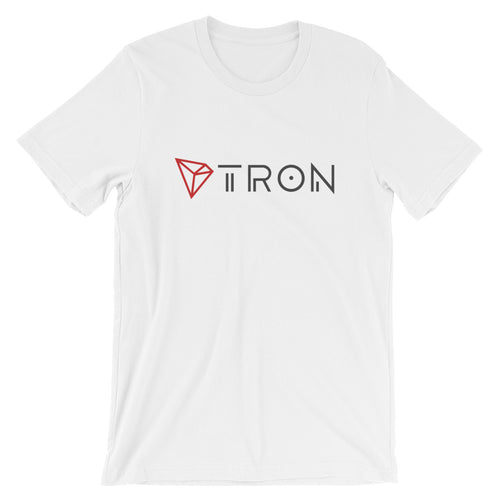TRON TRX Logo / Symbol Cryptocurrency Short-Sleeve Unisex T-Shirt