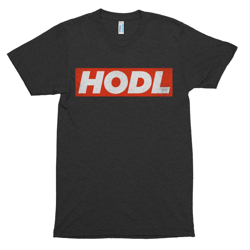 HODL Red Box Bitcoin Crypto Shirt American Apparel Short sleeve soft t-shirt