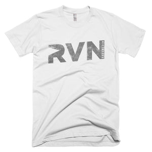 Ravencoin RVN Vintage Texture Print Cryptocurrency American Apparel Shirt Short-Sleeve T-Shirt