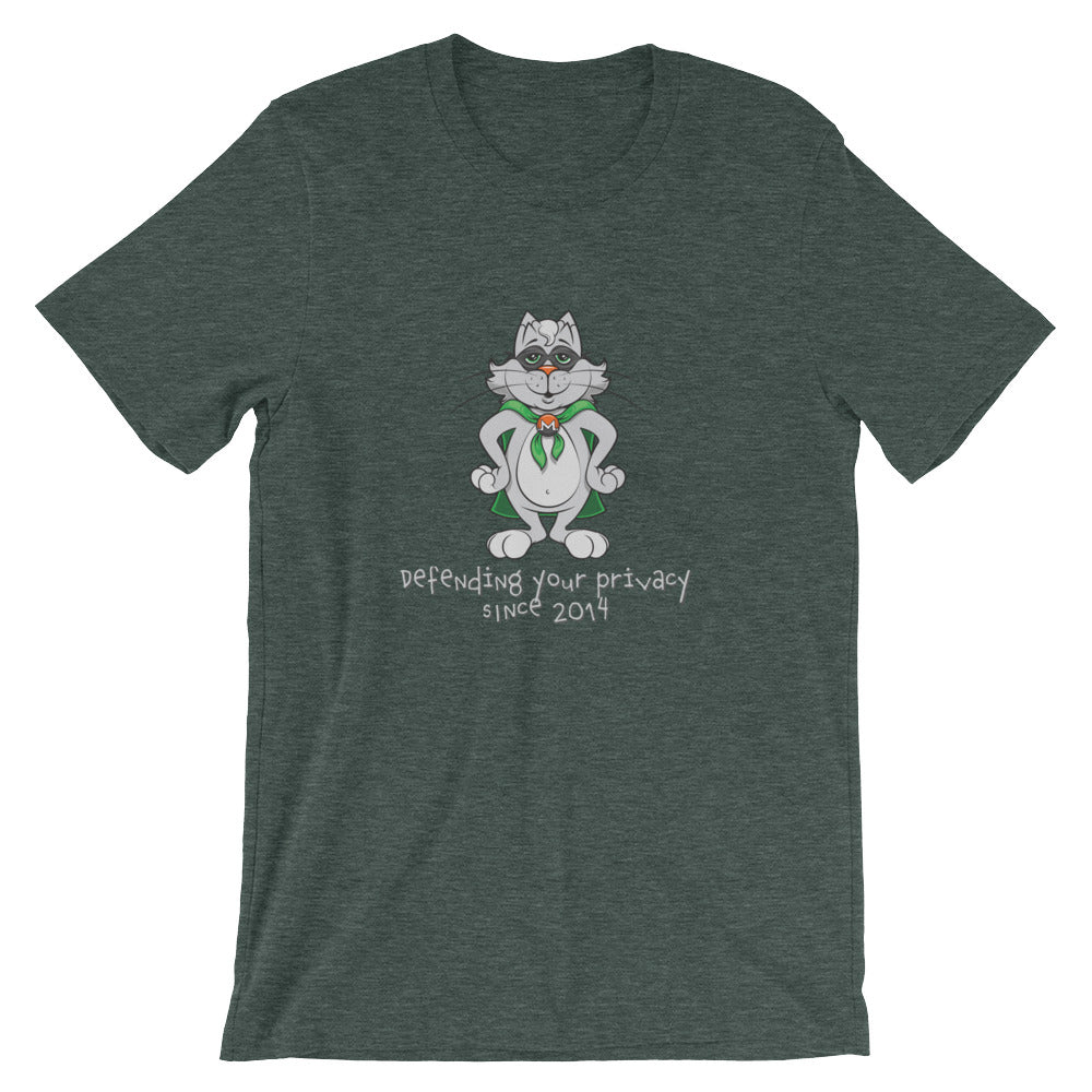 Monero Cat T-Shirt (Heather Green)
