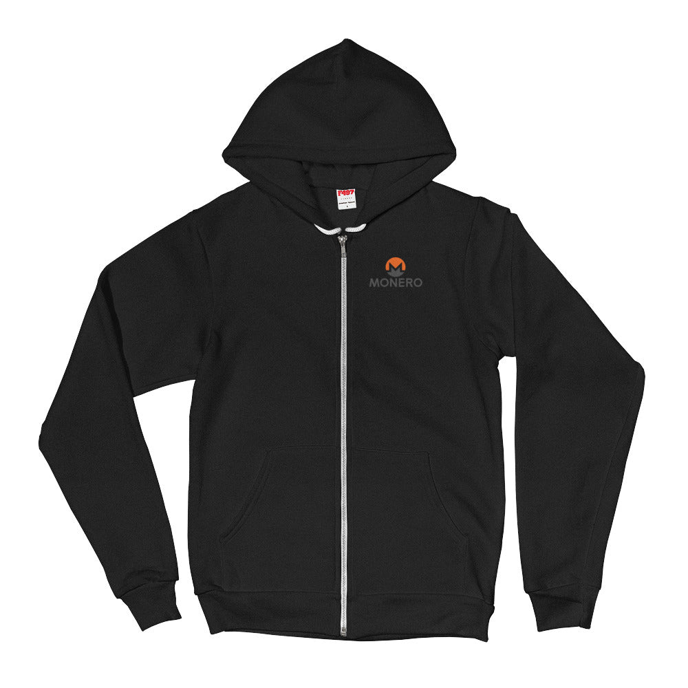 Monero Full-Zip Hoodie (Black)