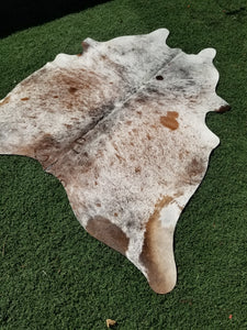 Tricolor salt and pepper Brazilian cowhide