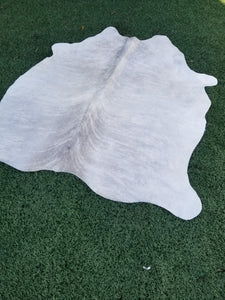 Small grey and white brindle Brazilian cowhide