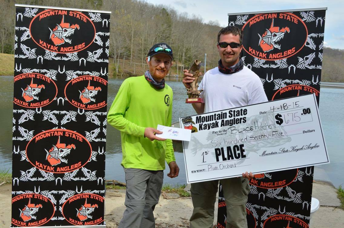 Blace Hutchens Wins 1st Place Prize at Mountain State Kayak Anglers