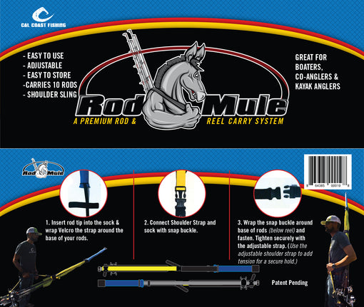 Cal Coast Fishing Rod and Reel Mule Carrying System - Easy to Use Instructions