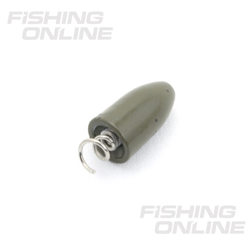 FishOn Tungsten Screw-In Weights - Green Pumpkin