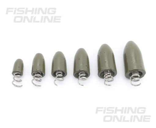 FishOn Tungsten Screw-In Weight Sizes
