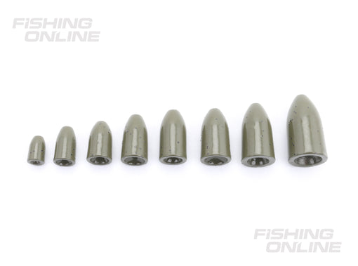 FishOn Tungsten Worm Weight Sizes