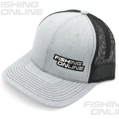 Fishing Online Trucker Hat - Grey/Black