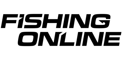 "Fishing Online Logo Decal / Sticker [8"" Logo Black (No Border)]"