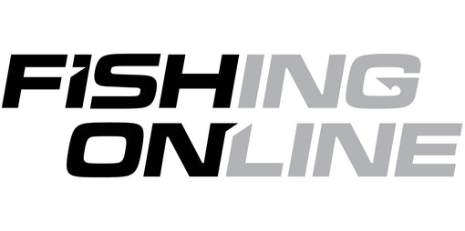 "Fishing Online Logo Decal / Sticker [8"" Logo Black/Grey (No Border)]"