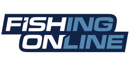 "Fishing Online Logo Decal / Sticker [8"" Logo (Blue Border)]"
