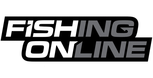 "Fishing Online Logo Decal / Sticker [8"" Logo Greyscale (Black Border)]"