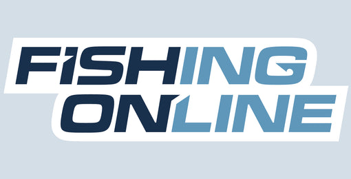"Fishing Online Logo Decal / Sticker [8"" Logo (White Border)]"