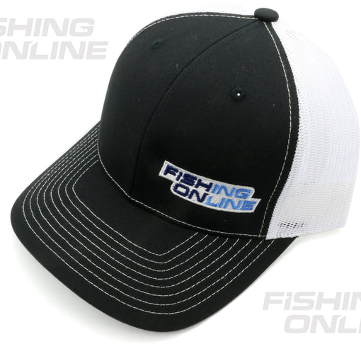 Fishing Online Trucker Hat - Black/White
