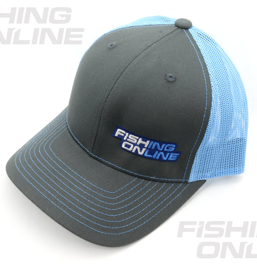 Fishing Online Trucker Hat - Grey/Light Blue