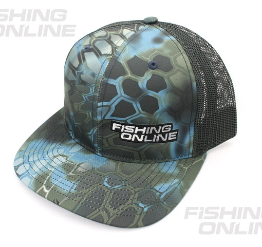 Fishing Online Trucker Hat - Kryptek Blue