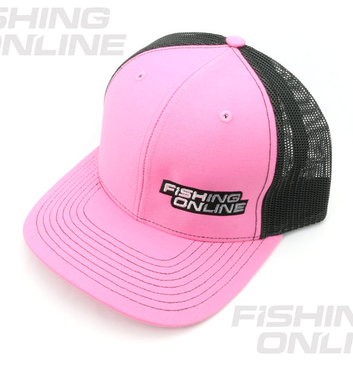 Fishing Online Trucker Hat -Pink/Black
