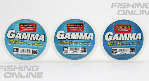 GAMMA 100% Fluorocarbon Transparent Leader Material - 8#, 10#, 12#