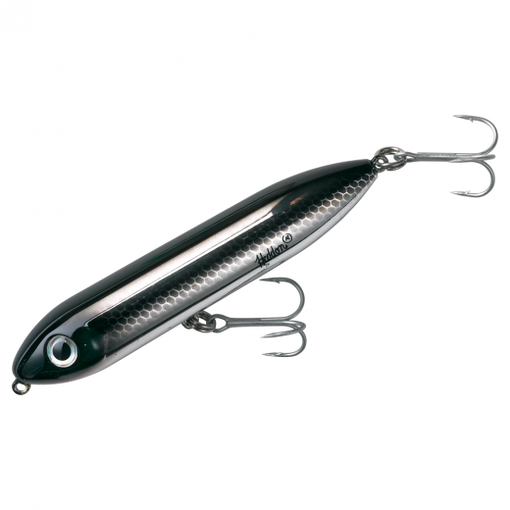 Heddon Fishing Salt Water and Fresh Water Super Spook Jr - Black Shiner