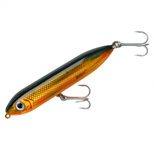 Heddon Fishing Salt Water and Fresh Water Super Spook Jr - Gold Shiner