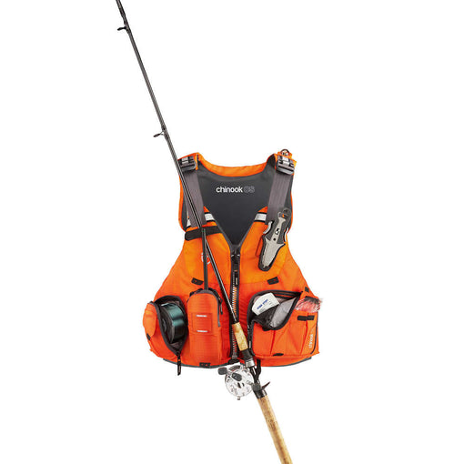 NRS Chinook OS Fishing PFD Rod Holder