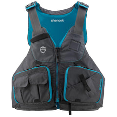 NRS Women's Shenook Fishing PFD Lifejacket - Front view - Charcoal