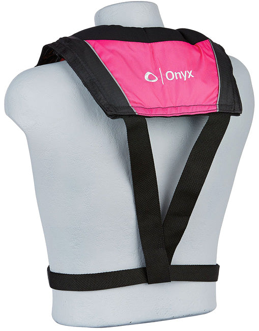 Onyx A/M-24 Inflatable Life Jacket Pink Back