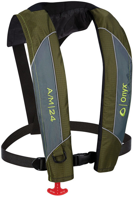 Onyx A/M-24 Inflatable Life Jacket [Green]