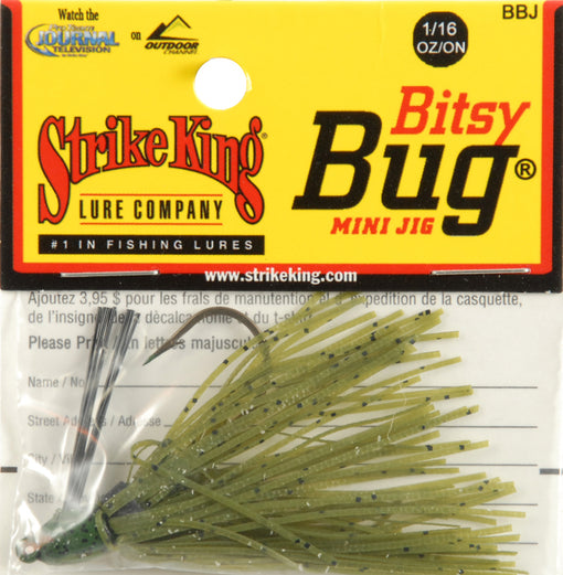 Strike King Lures Bitsy Bug Mini Jig [1/16oz Watermelon]
