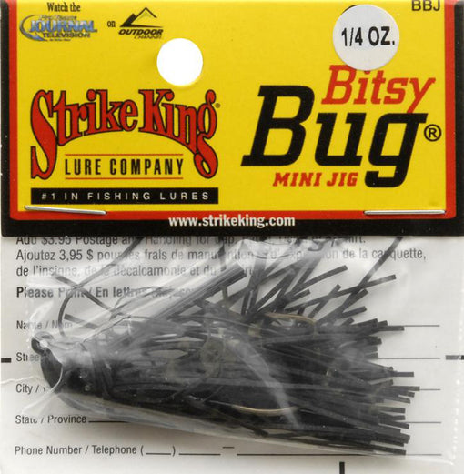 Strike King Lures Bitsy Bug Mini Jig [1/4oz Black]