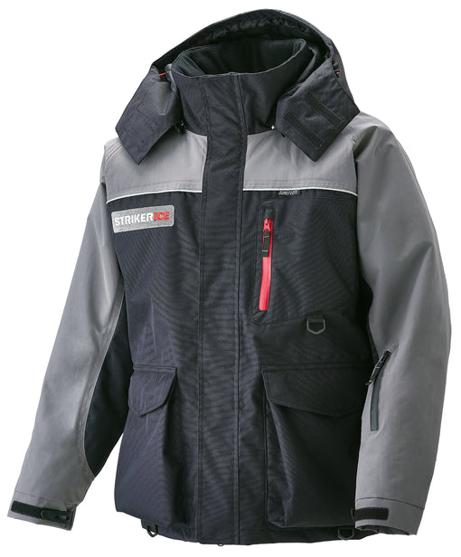 Striker Ice Trekker Flotation Jacket - Grey and Black - Front/Side View