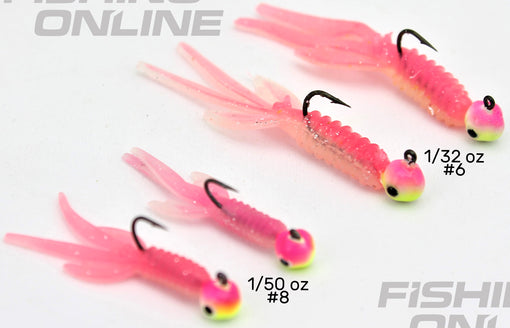 VMC Pro Series Nymph Jig Pink Chartreuse Glow Ultra Glow