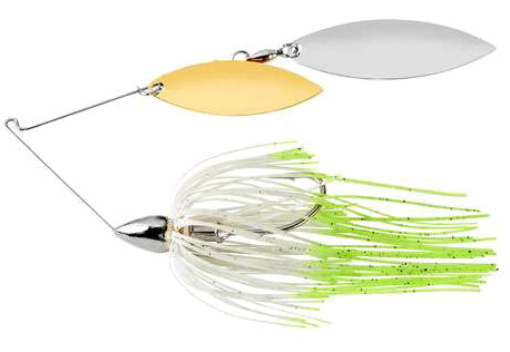 War Eagle Double Willow Spinnerbait 3/8 oz - Nickel Hot White Shad