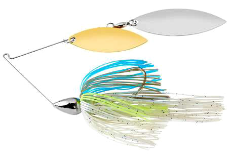 War Eagle Double Willow Spinnerbait 3/8 oz - Nickel Sexxy Shad