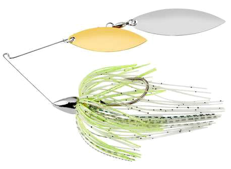 War Eagle Double Willow Spinnerbait 3/8 oz - Nickel Spot Remover