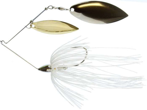 War Eagle Double Willow Spinnerbait 3/8 oz - Nickel White Silver