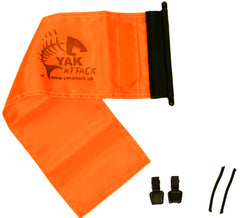 YakAttack 6 X 18 Orange ProGlo Flag Kit [YakAttack Logo]