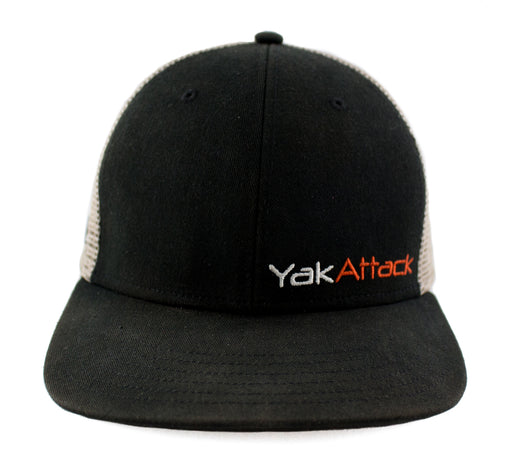 YakAttack BlackPak Trucker Hat [Black/Tan] Front
