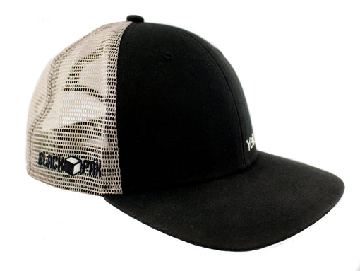 YakAttack BlackPak Trucker Hat [Black/Tan] Side