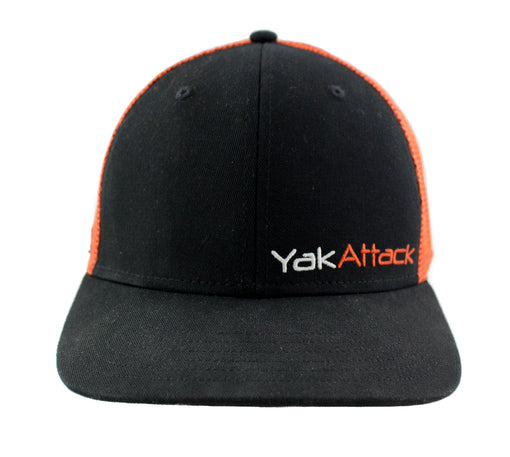 YakAttack BlackPak Trucker Hat [Orange/Black] Front